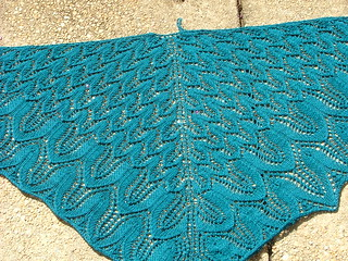 Sunflower Shawl - Complete and Blocked! | by dccraftaholic128