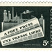 Canada postage stamp: a free press