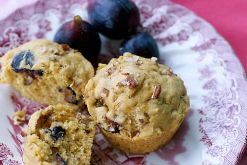 fresh fig, orange, and pecan muffins | by Food Blogga