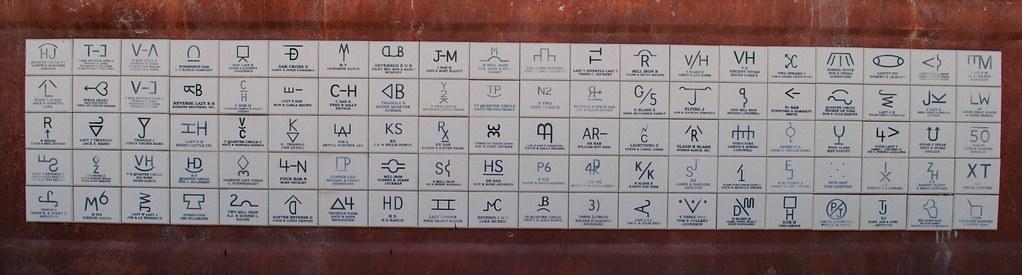 Cattle Branding Symbols Wyoming Broadway Thermopolis Flickr