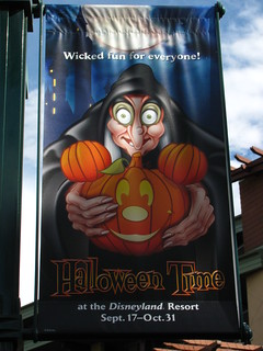 Halloween Time banner in Downtown Disney | by Castles, Capes & Clones