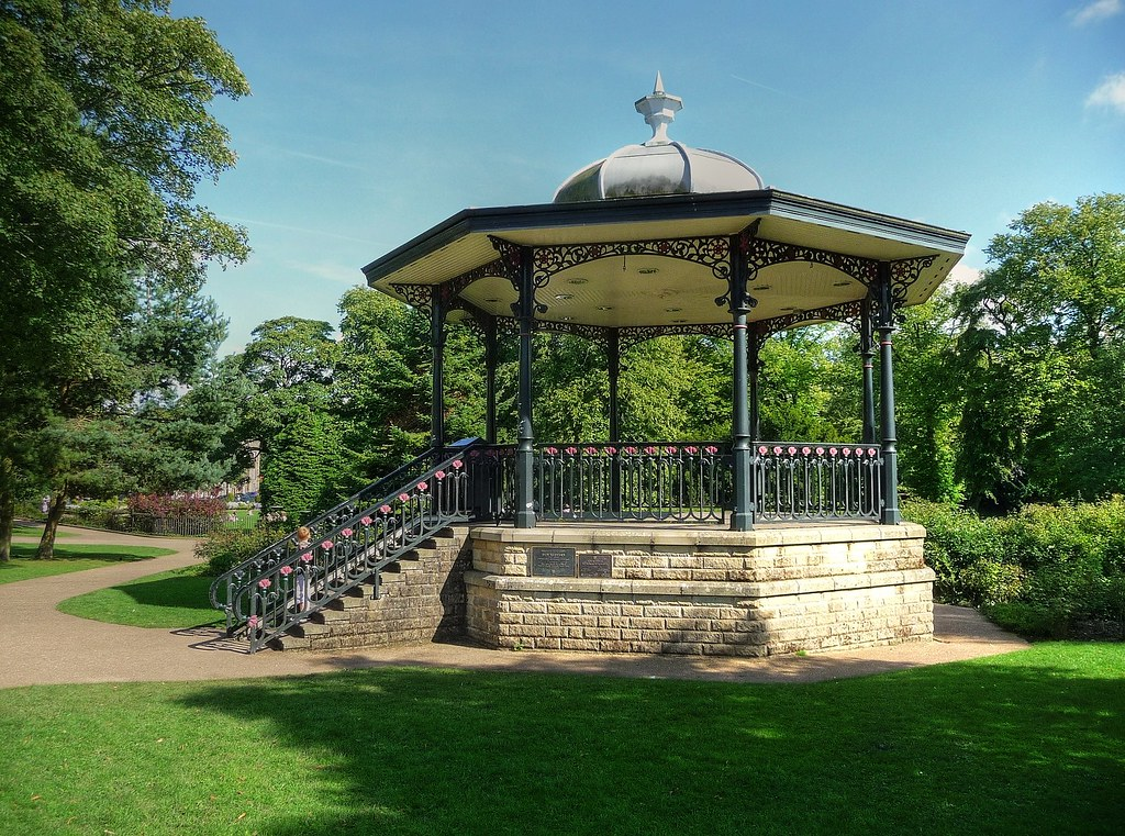 The Bandstand Pavilion Gardens Buxton Derbyshire The