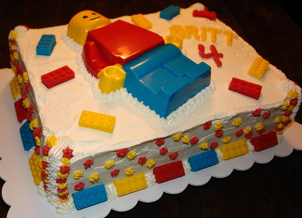 Lego Man Cake, February 2010 | First time making candy. Lego… | Flickr