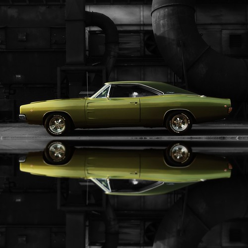 1968 Dodge Charger R/T Black Background (Full Reflection) | by 1968 Dodge Charger R/T | Scott Crawford