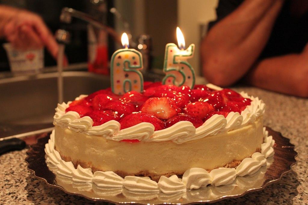 Dads Birthday Cake Lit Up
