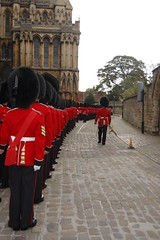 Grenadier Guards lining outside the cathedral