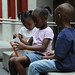 Brother and sisters take a break at the 4th annual Children's Reading Celebration & Young Authors' Fair