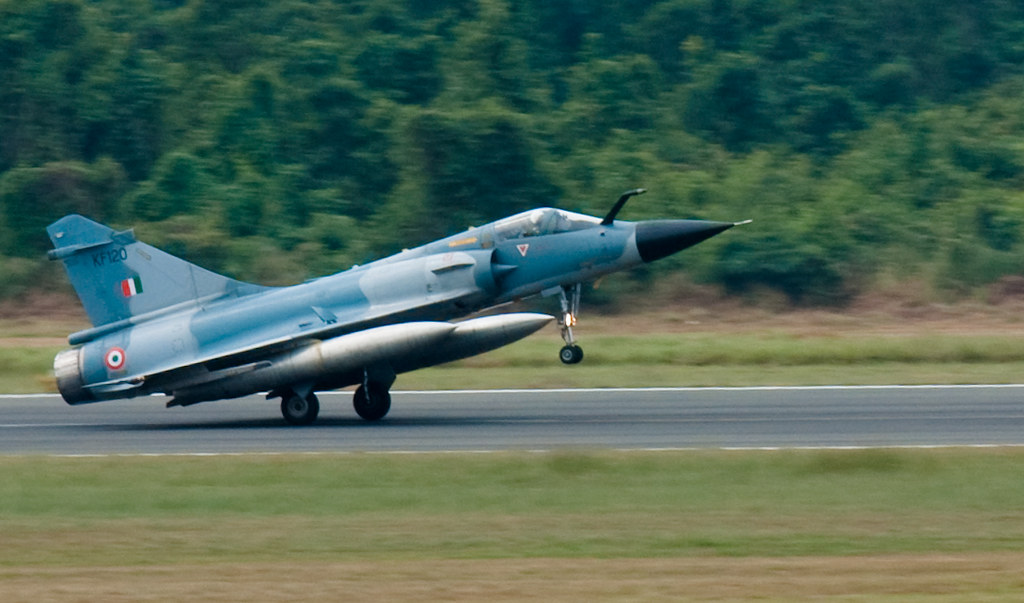 Mirage 2000 Touch Down An IAF Mirage 2000 Landing At The