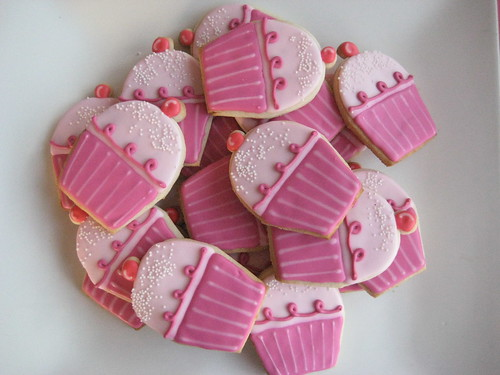 pinkalicious cupcake cookies | by sugarlily cookie