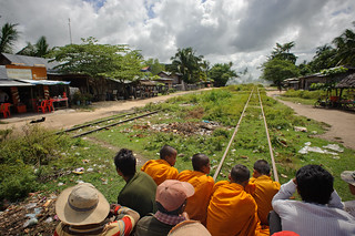Riding on Cambodia's Bamboo Railway | by goingslowly