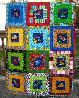 vehicle/primary color charity quilt | by vickivictoria