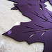 plum leaf placemats+beige lace tablecloth+kitchen tabletop elements