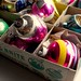 1940s - 1950s Vintage Christmas Ornaments SHINY BRITE BOX