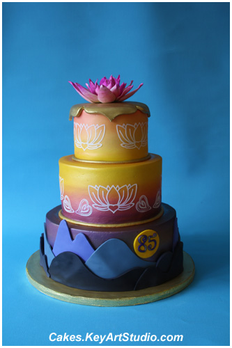Sai Baba S Birthday Celebration Cake The Lotus Sunrise