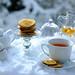 Tea, some sweet & snow