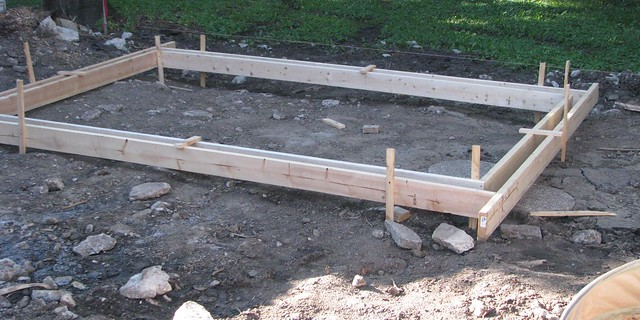 Foundation forms flickr photo sharing for Concrete basement forms