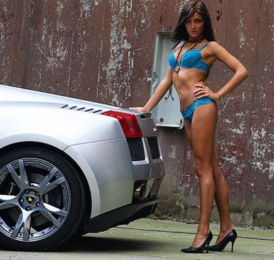 babes Lamborghini sexy diablo whit