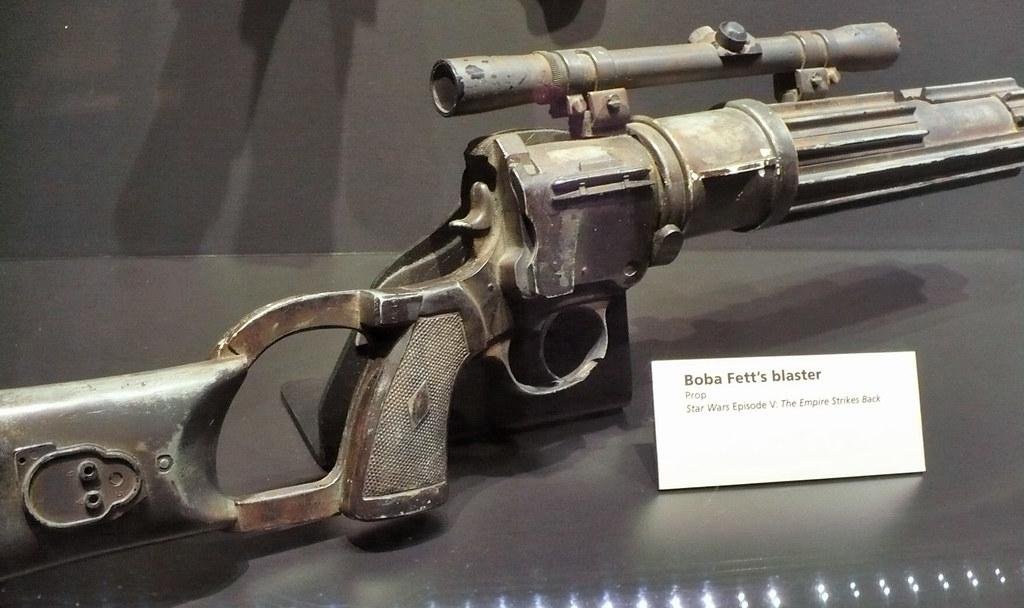 Blaster Rifle Detail Partial View Of Boba Fett S Blaster