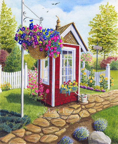 The Langley Garden Shed | by Mary Irwin Art