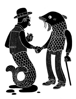 Cryptozoologistic gentlemen part 1: Gentlefish/Mermen | by Esther Aarts