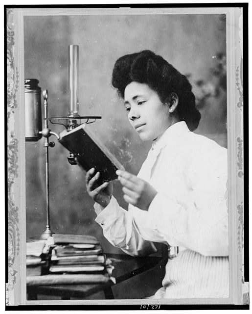 African American Woman Reading Book Library Of Congress