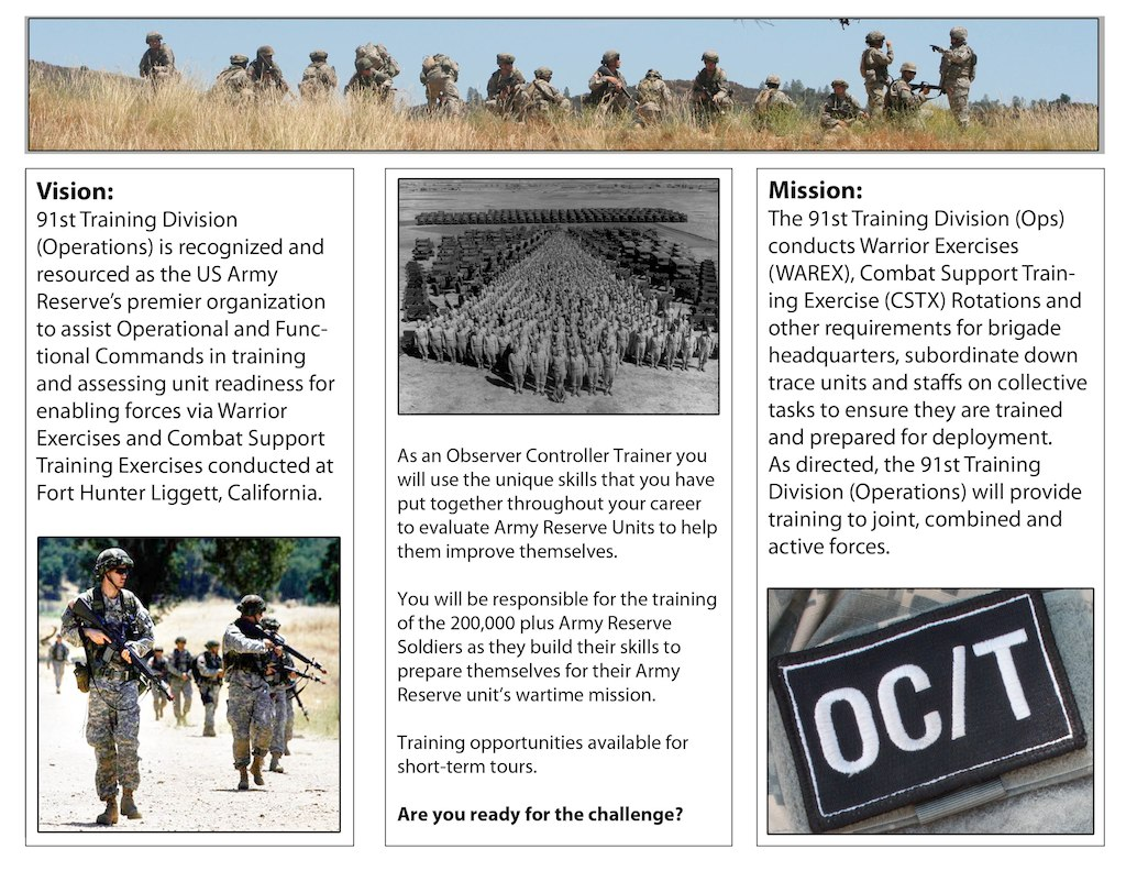 91st Training Division Operations