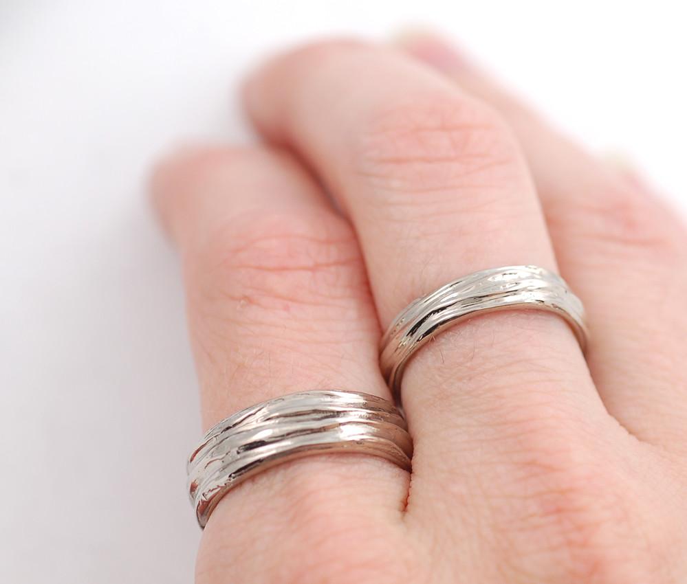 water themed 14k palladium white gold rings   still thinking…   Flickr