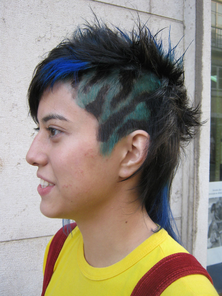 Blue And Green Hair Color Haircut And Color By Jojo Www M Flickr