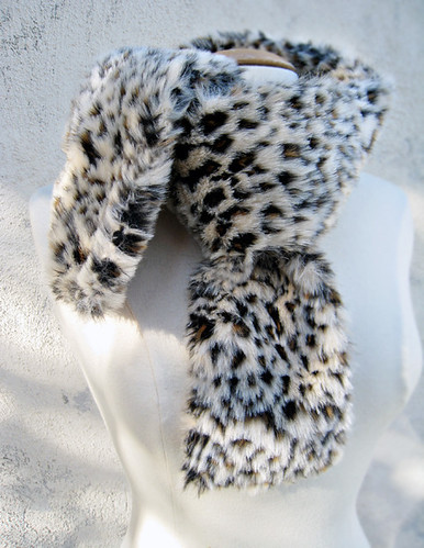 faux fur leopard print neck scarf DIY -knotted | by ...love Maegan