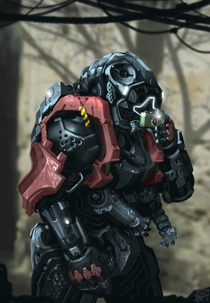 Mech Suit Concept Art