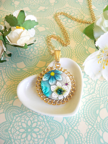 Millefiori pendant on a gold plated setting | by ilil  ziv