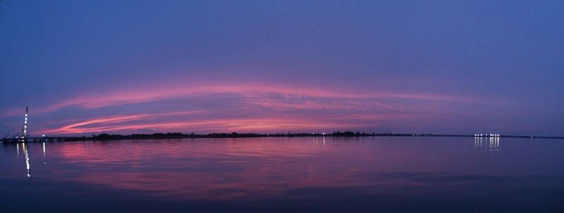 Sunset panorama on the Great South Bay