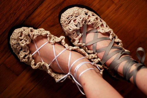 Frilly Crocheted Shoes! | by -leethal-