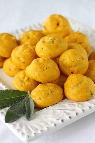 Pumpkin & Sage Gougeres (Cheese Puffs) Recipe ...