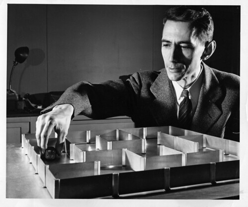 Labyrinthmouse Theseus / Claude Shannon | by Ars Electronica
