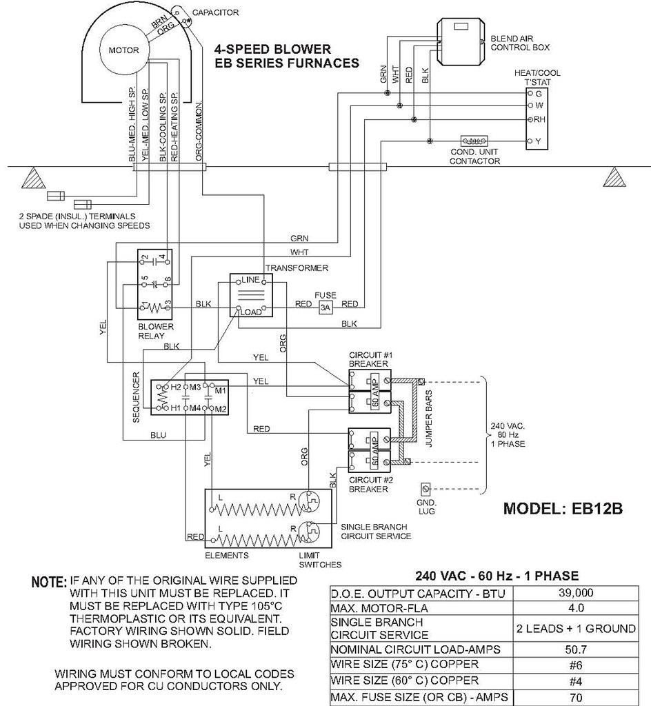 Coleman Eb15b Wiring Diagram Thermat Evcon Wiring Diagrams – Evcon Furnace Wiring Schematic