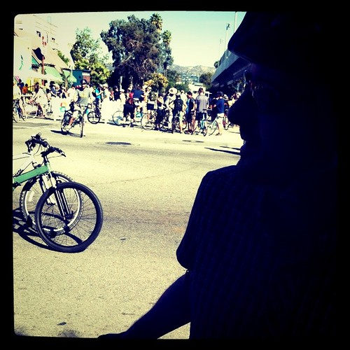 Beginning of CicLAvia | by tarabrown