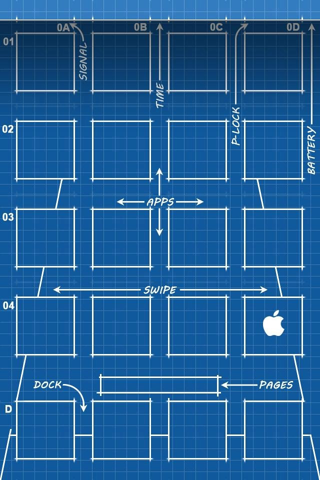 Blueprint iphone 4 wallpaper emkwan flickr blueprint by emkwan blueprint by emkwan malvernweather Gallery