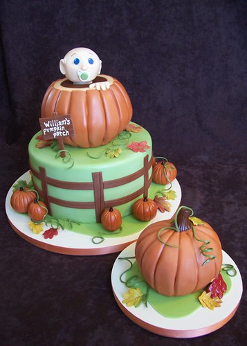pumpkin patch birthday cake | by RebeccaSutterby