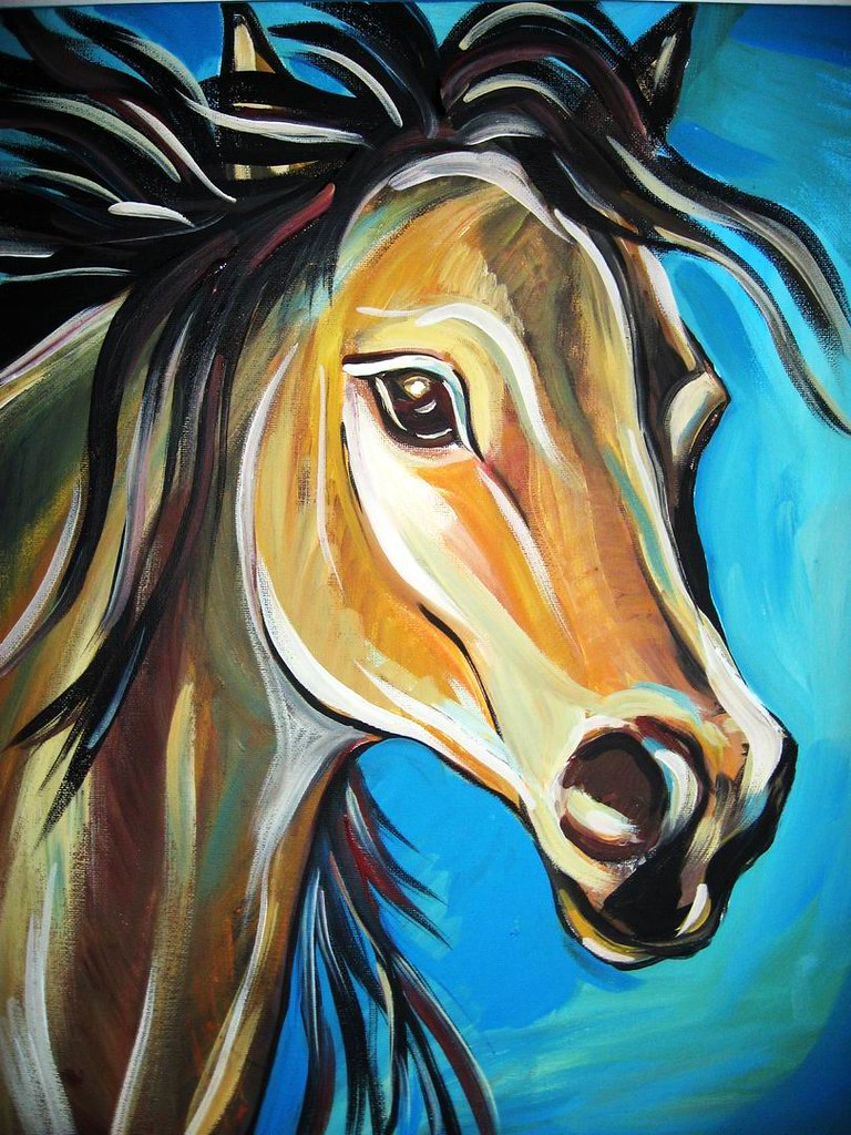 Horse acrylic painting | SilkMagic | Flickr
