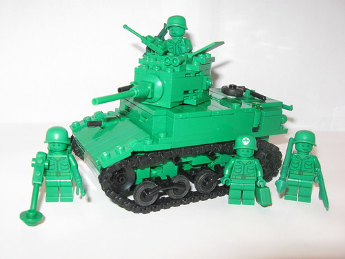 "Green Army Men M3A1 Stuart | by ""Rumrunner"""