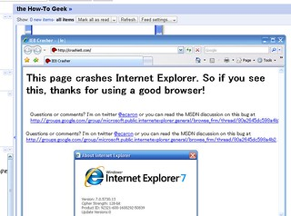 crashie8.com not crashing my IE 7.0 | by miguel.mateo