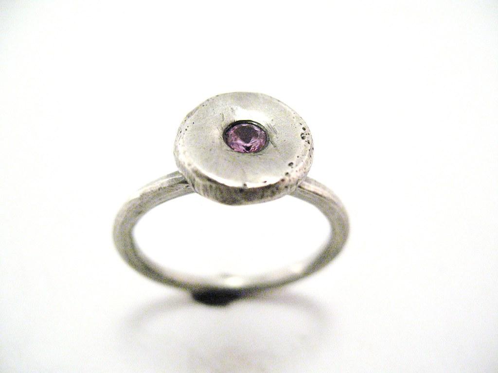 Silver Rose Ring Holder