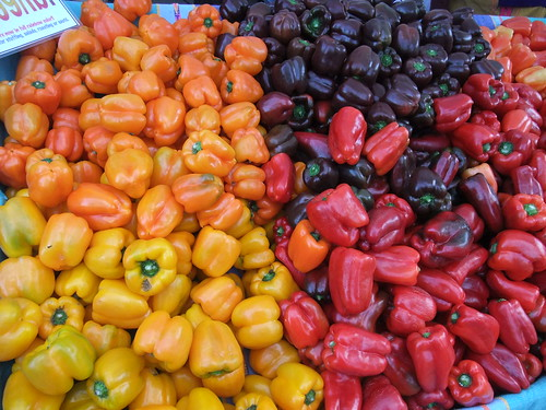SFO Day 2: Colorful Bell Peppers at the Ferry Plaza Farmers Market | by swampkitty