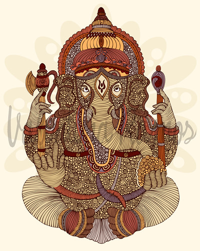 Ganesha: Lord of Success | by valentinadesign