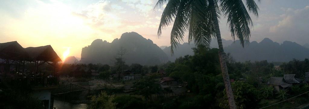 Sonne Europa USA Asien Laos Sonnenuntergang