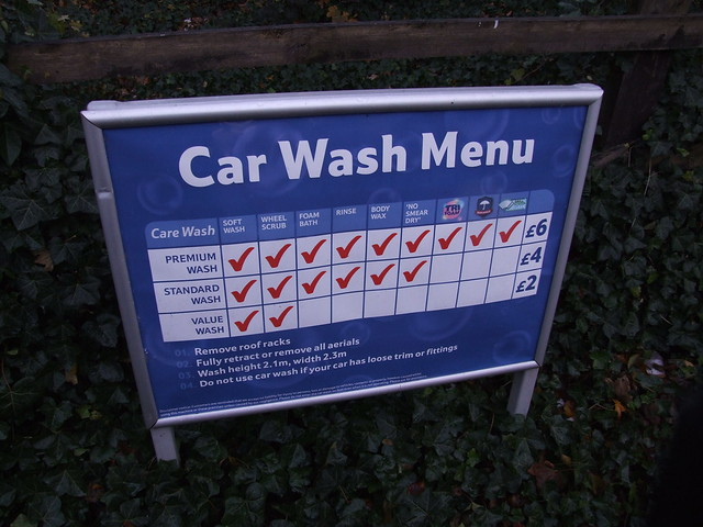 Tesco Car Wash Price List