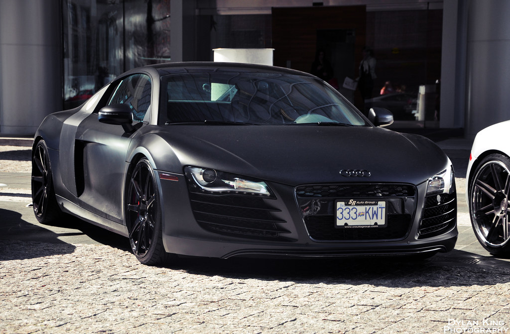 Matte Black Audi R8 | Check out my Facebook page | Dylan ...