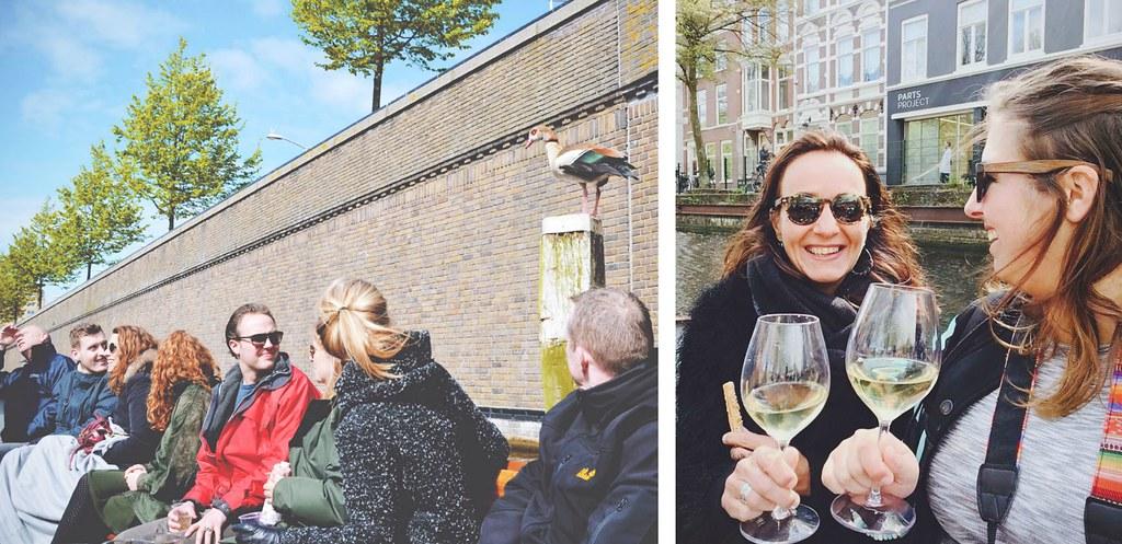 Tijdens de rondvaarten door Den Haag van de Ooievaart kun je je eigen natje & droogje meenemen | via It's Travel O'Clock
