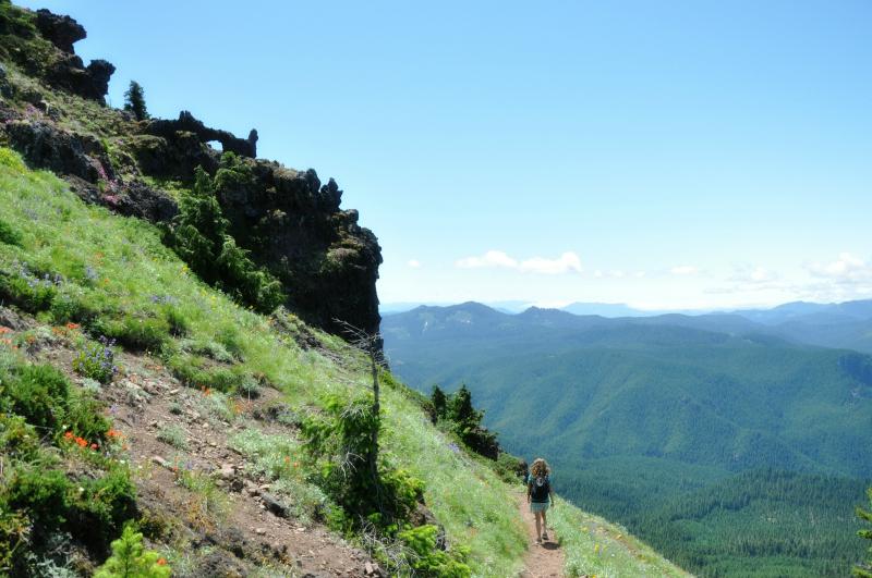 Iron Mountain Hike Descending @ Mt. Hope Chronicles